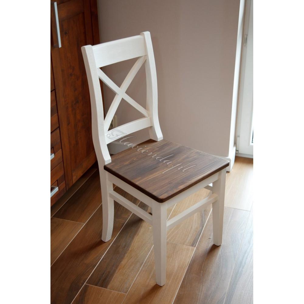 Krzesło Woskowane Rustykalne Retro Hacienda 02 Haciendapl